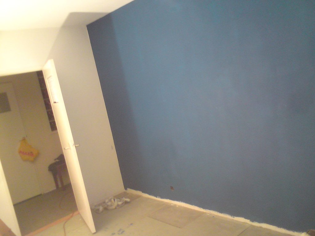 blauwe muur in de slaapkamer  arcades  flickr, Meubels Ideeën