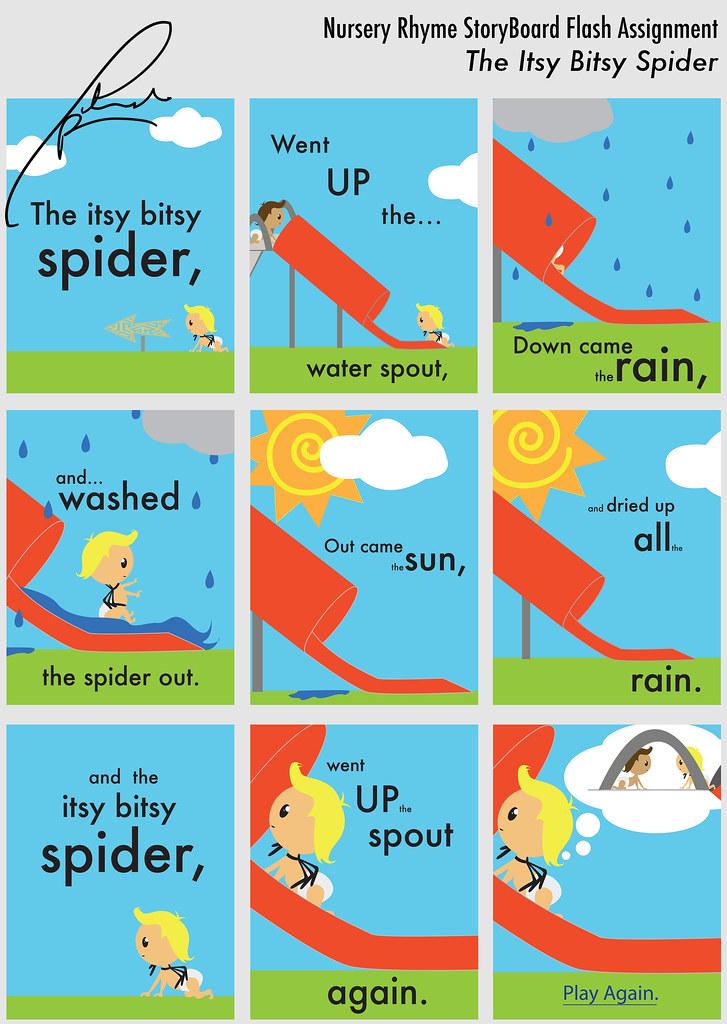 nursery rhyme storyboard for flash