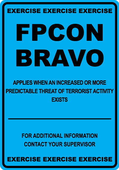 Fpcon Bravo Exercise Military Stonehouse Signs Offers