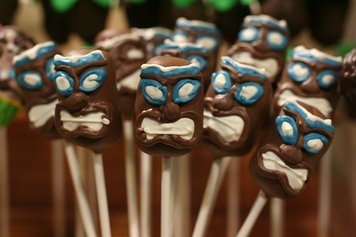 Tiki Head Cake Pops | by Sweet Lauren Cakes
