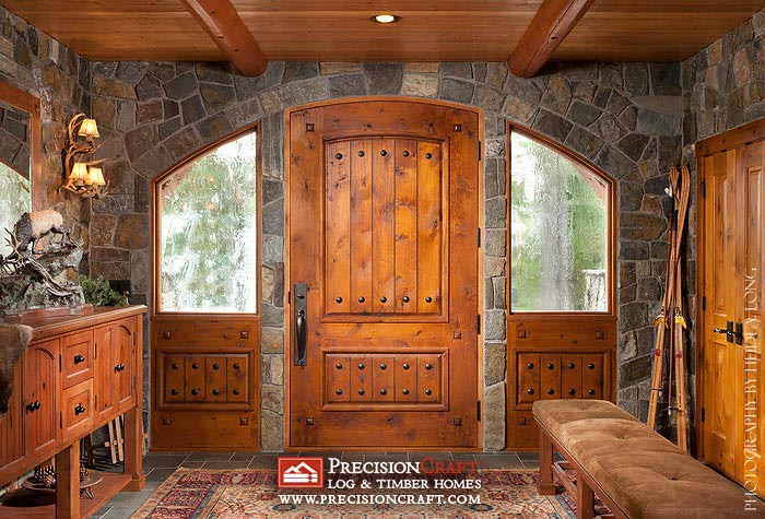 Log Home Entry Photo By Precisioncraft Log Homes Flickr