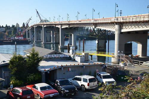 Boat Shed Restaurant and the new Manette Bridge | by WSDOT