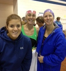 Christina Flannery, Betsy Goode, and Nancy Speer (Relay Queen)