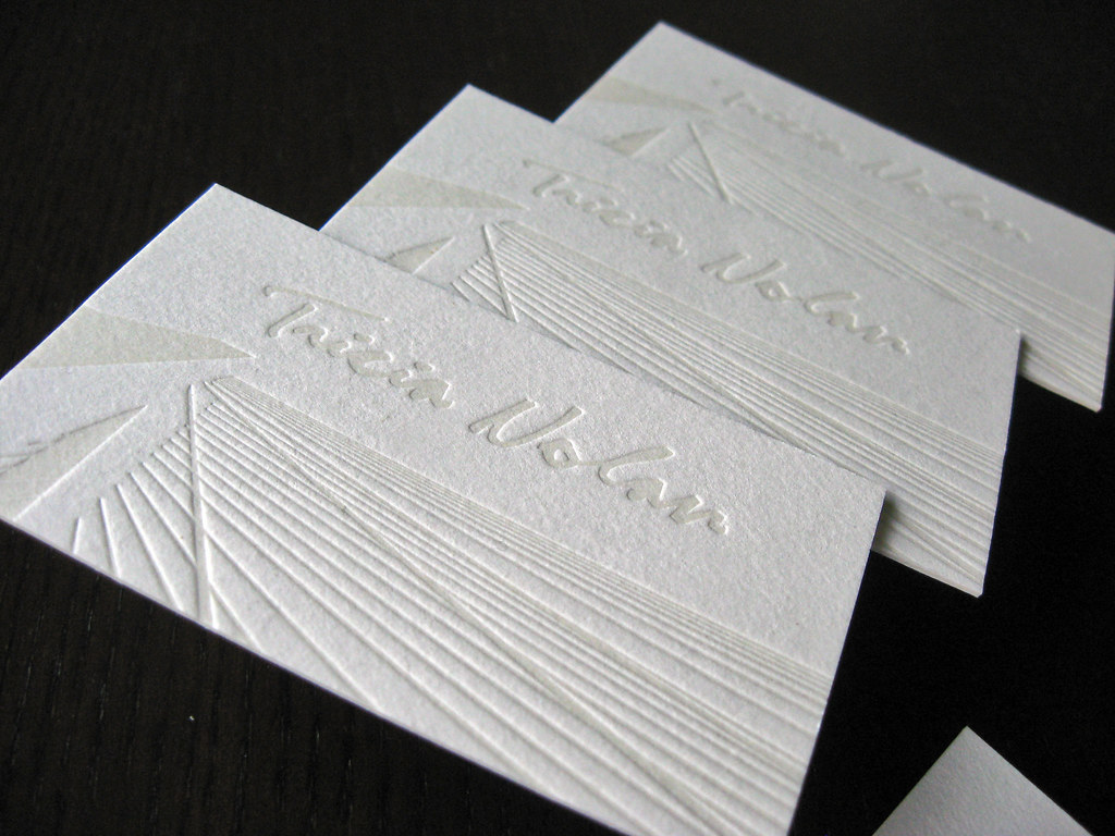 Tricia Nolan Letterpress Business Cards | A custom business … | Flickr