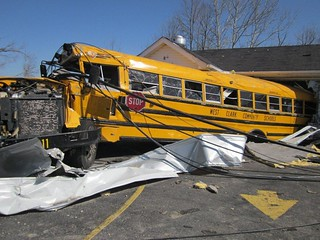 Henryville, IN Tornado - School bus in a house | by State Farm