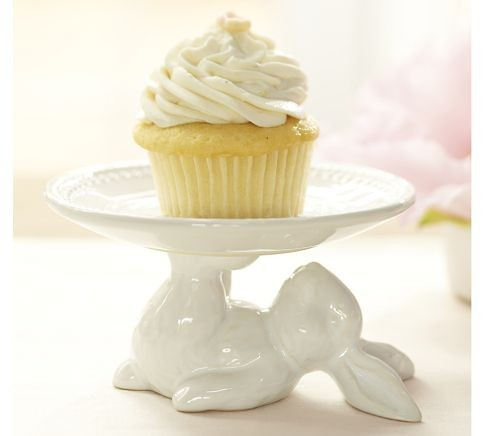 Pottery Barn Cake Stand White
