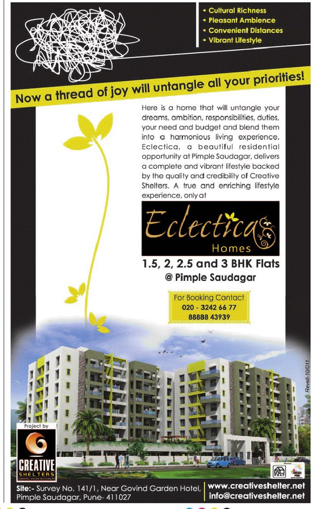 ... Creative Shelters' Eclectica Homes, 1.5 BHK - 2 BHK - 2.5 BHK - 3