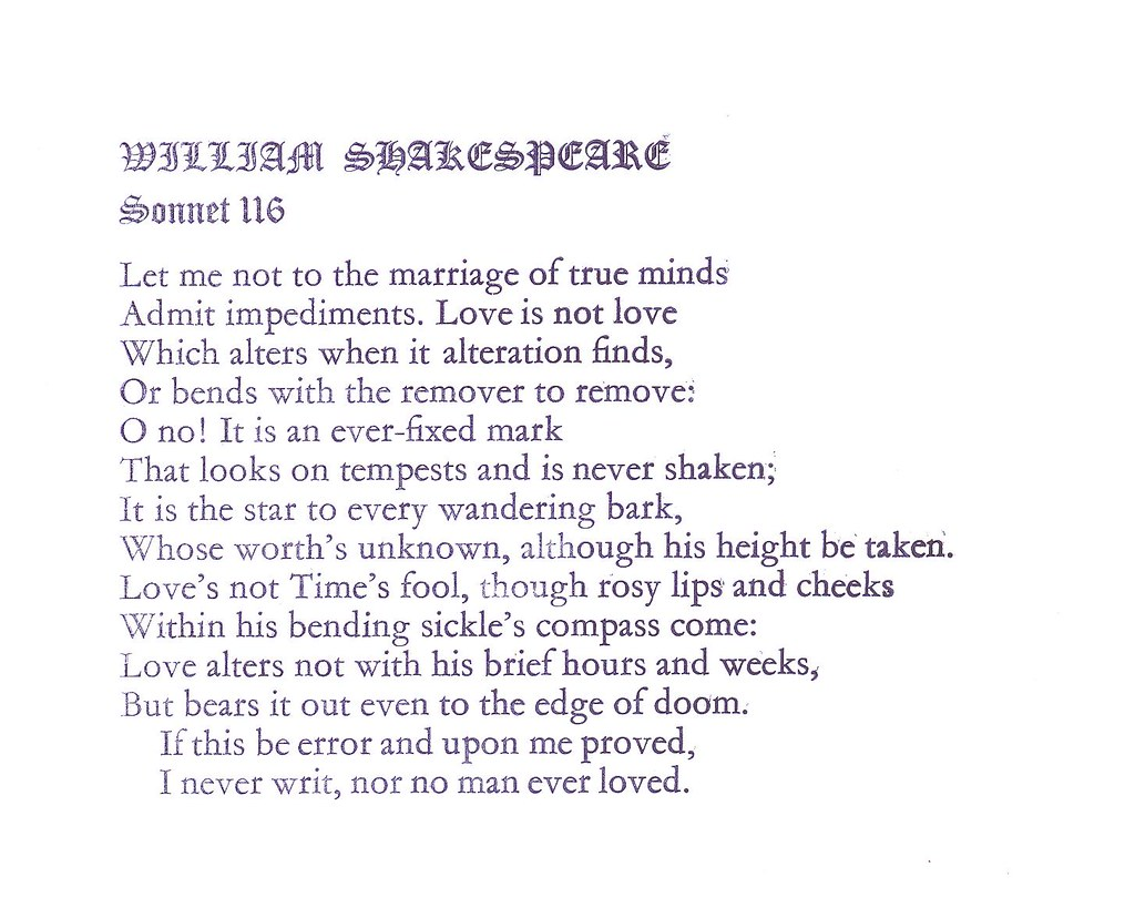 sonnets 18 and 116 In sonnets 18, 116, and 130 shakespeare uses a pure and good love as a major theme sonnet 116 uses the night sky to define love, while sonnet 130 uses many splendids of nature to compare love.