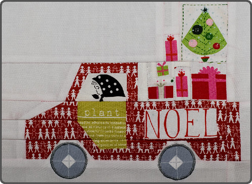 Christmas truck - '12 days of Christmas' Sampler QAL. | by Sewing Under Rainbow