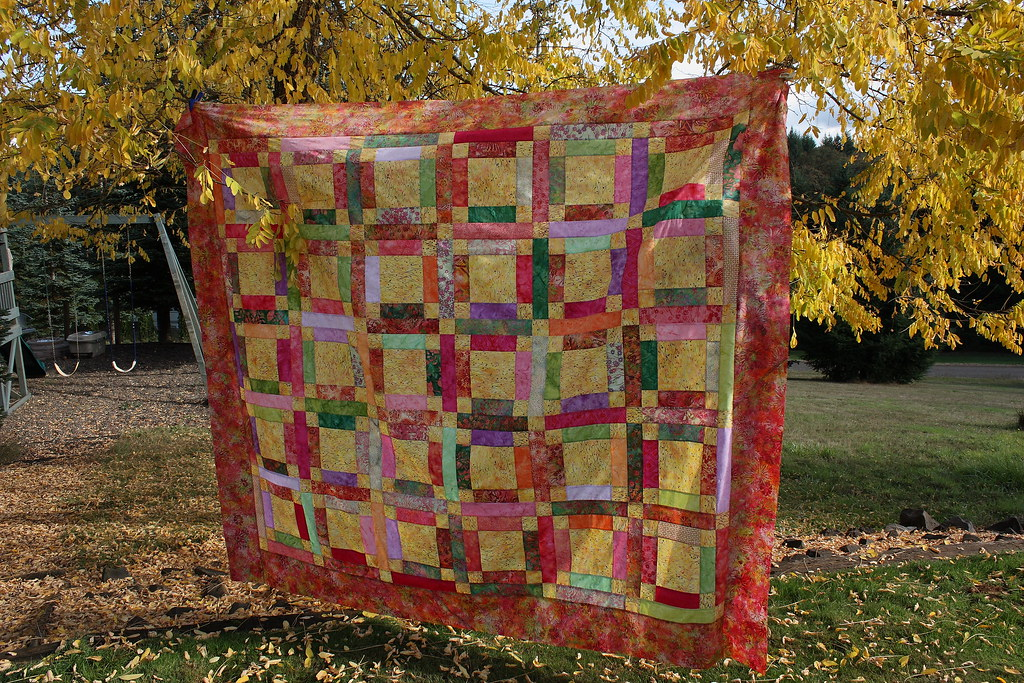 Hoffman Batik Quilt From Pattern Grandma Mary S Five Patch