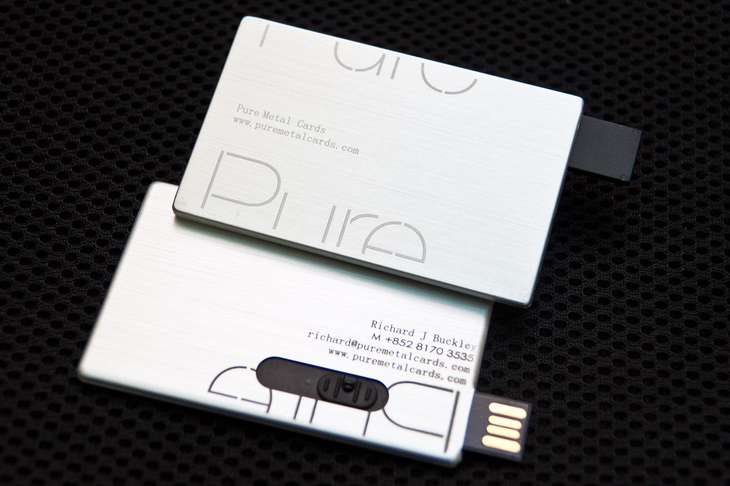Pure Metal Cards - USB Metal Business Card | Pure Metal Card… | Flickr