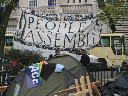 People's Assembly - Occupy London - Finsbury Square - Real Democracy Now | by AndyRobertsPhotos