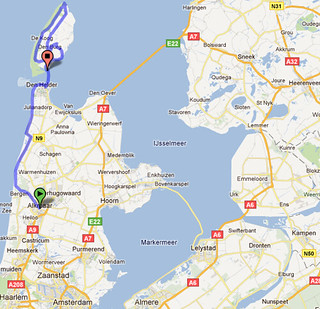A rough map of our tour to Texel | by travelling two