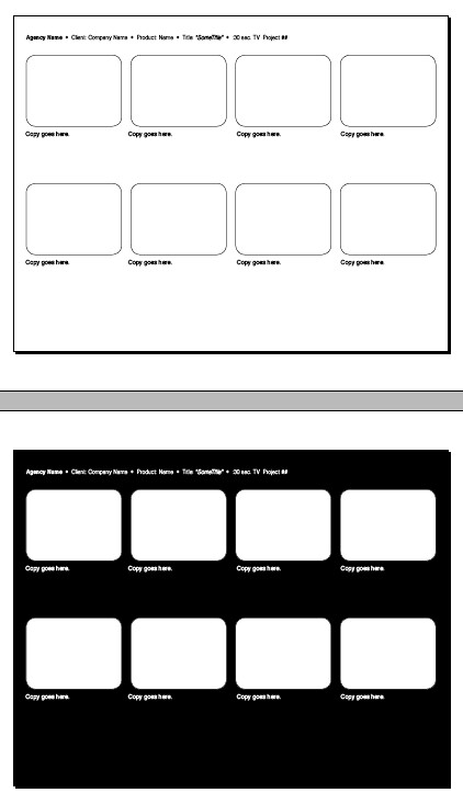 08 frame storyboard 11 x 8.5 in. | Editable Adobe InDesign s… | Flickr