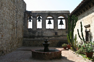Fountain and Bells, Mission San Juan Capistrano | by Sharon Mollerus