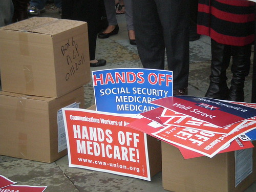 10-26-11 Press Conference to Protect Social Security, Medicare and Medicaid | by NationalNOW