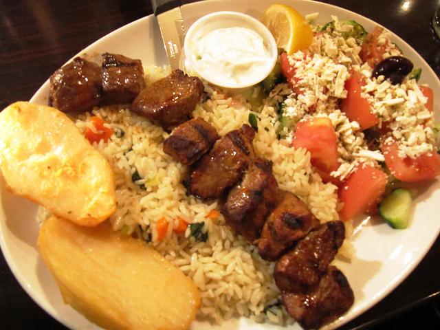 Greek food lamb souvlaki psvldemo flickr for About greek cuisine