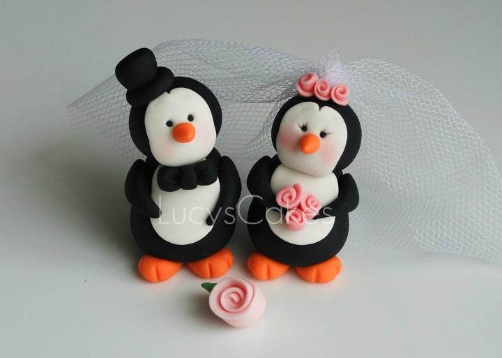 Penguin Wedding Cake Topper Uk
