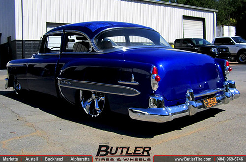 1953 Chevy Bel Air With 20in Vision Legend Wheels