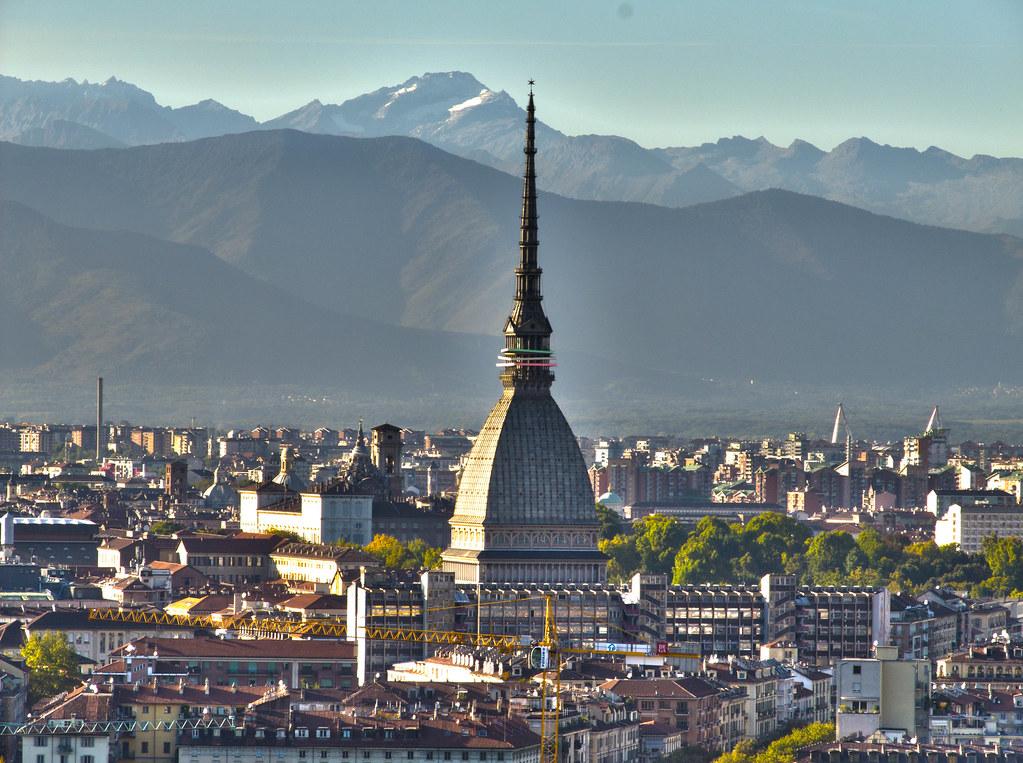 Vue sur Turin et sur la Mole Antonelliana depuis la Villa della Regina - Photo de Leonardo Pires