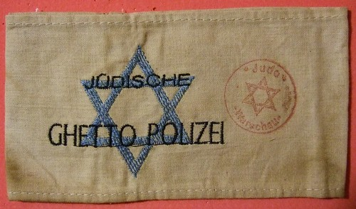 WARSAW GHETTO, POLAND ---JEWISH GHETTO POLICE ARM BAND EARLY 1940's | by woody1778a