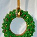 "Stocking stuffers - 3"" or 4"" Gingerbread wreath ornament"