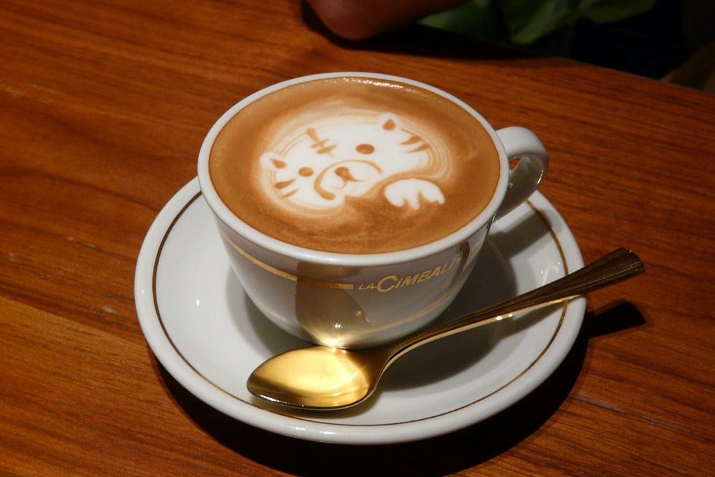 Animal en el café