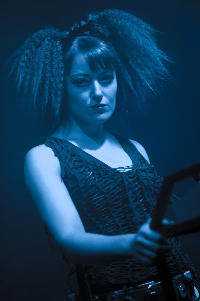 Kmfdm Lucia Cifarelli Mrs Kmfdm Live On Stage At