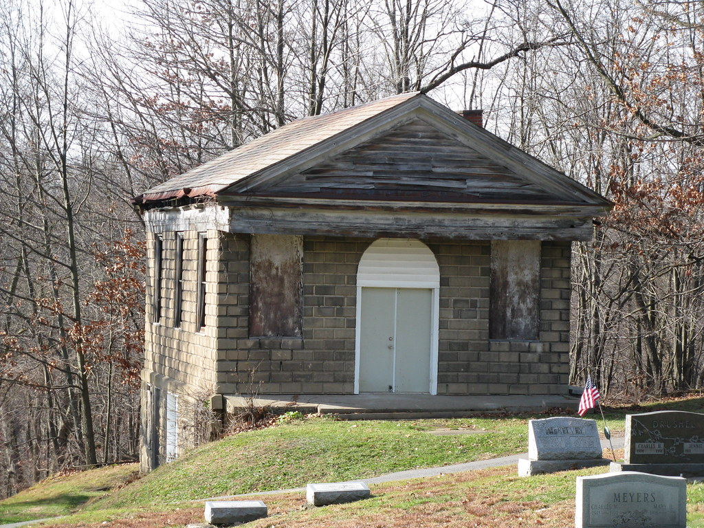 evans city cemetery chapel this building appeared in the o flickr