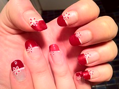 Red french nail art more at angelhandsonline flickr red french nail art by xmaigox prinsesfo Choice Image