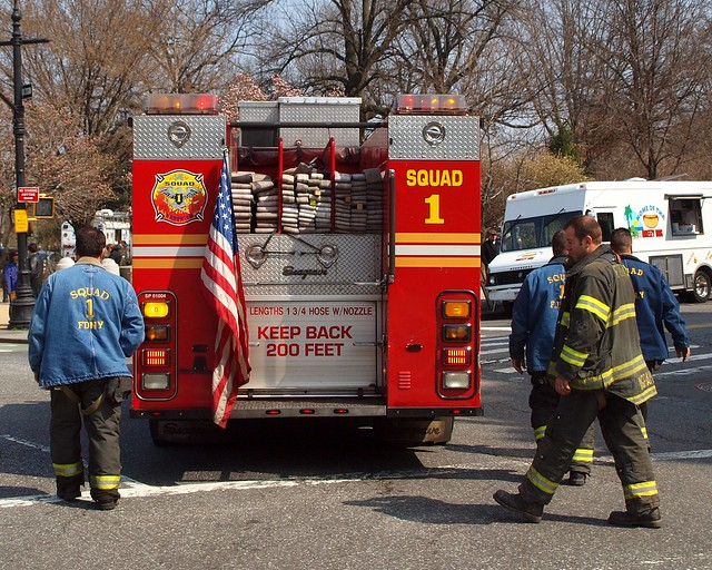 Fdny Squad 1 Fire Truck Park Slope Brooklyn New York