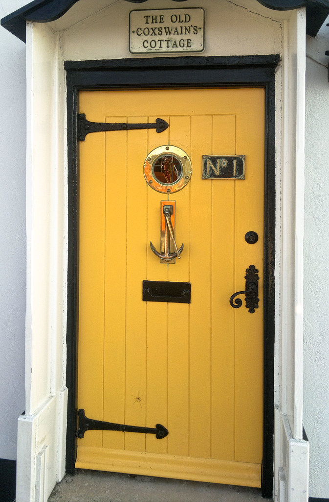 A Quaint Front Door With A Nautical Theme On The Nothe Par