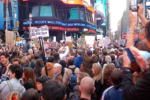 """Occupy Wall Street Movement"" Occupies Times Square 