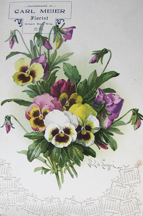 Paul de Longpré Calendar Flowers | Carl Meier Florist Green ...