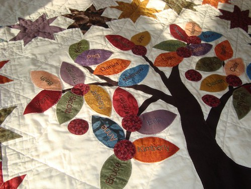 Family Tree Quilt 50th Wedding Anniversary Gift For A