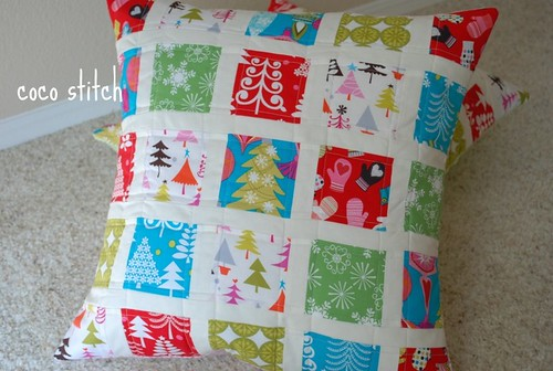 patchwork pillow cover | by coco stitch