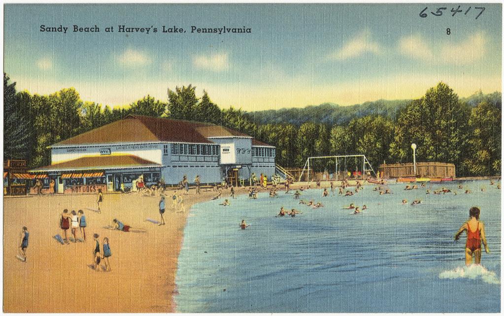 Image result for sandy beach harveys lake PA