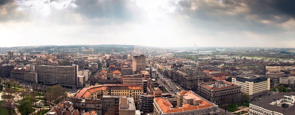 Part Of Belgrade Panorama From The Tallest