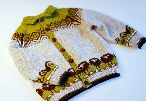 Sheep heid baby cardigan | by osloann