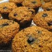 100% whole grain blueberry bran muffins made without processed sugar and bran cereal