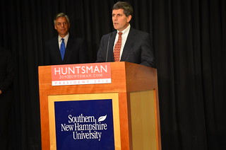 Dean of the School of Business Introduces Presidential Candidate Jon Huntsman at Southern New Hampshire University | by SNHU