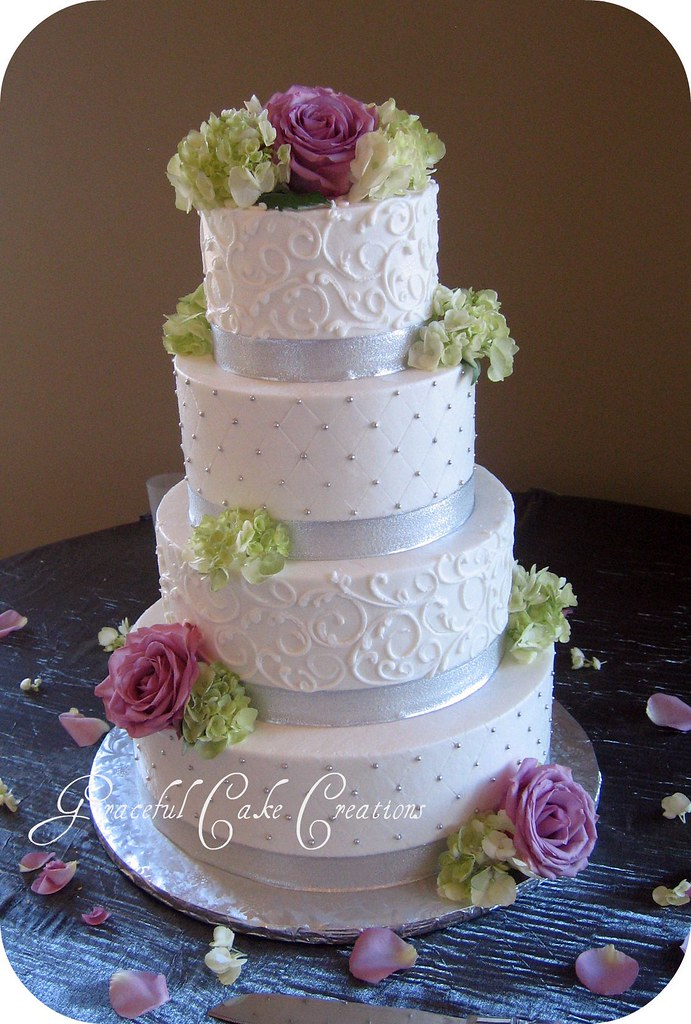 Silver Wedding Cake Toppers Figirine