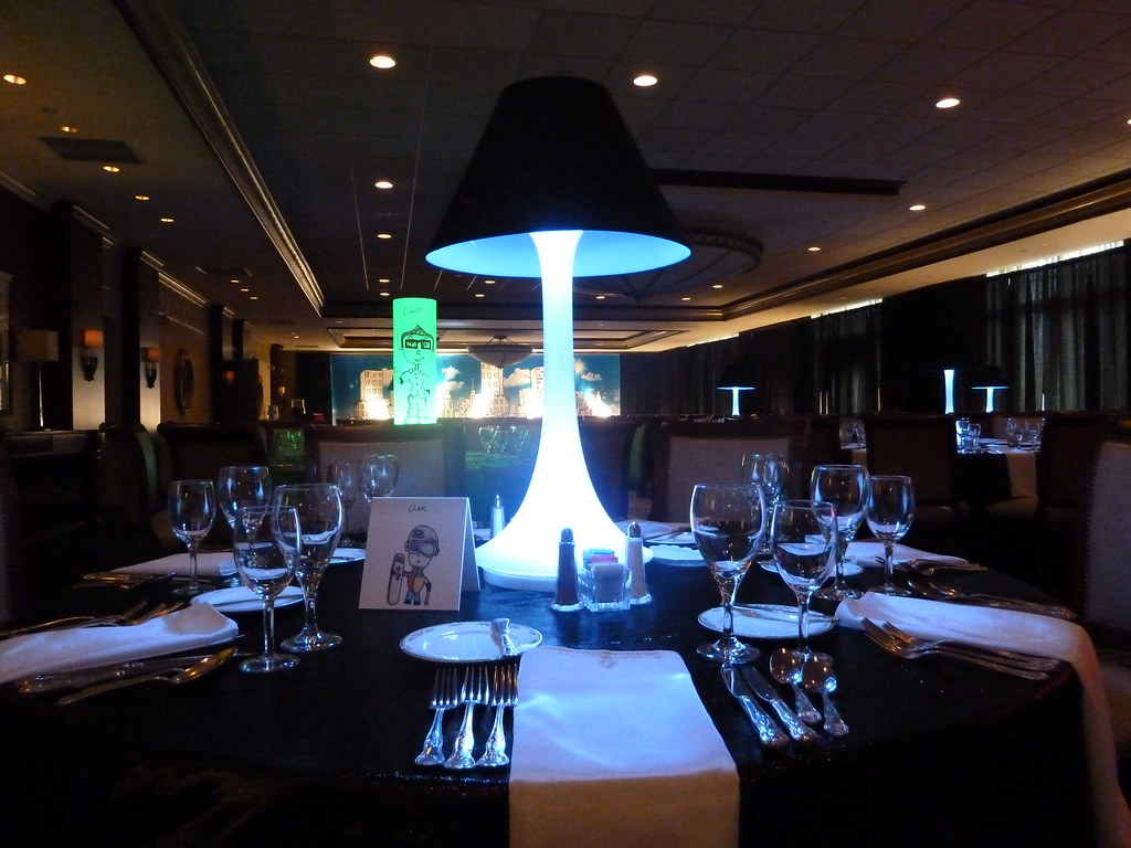 White spandex centerpiece with black lamp shade for a bar flickr white spandex centerpiece with black lamp shade for a bar mitzvah at the kernwood country club mozeypictures Choice Image