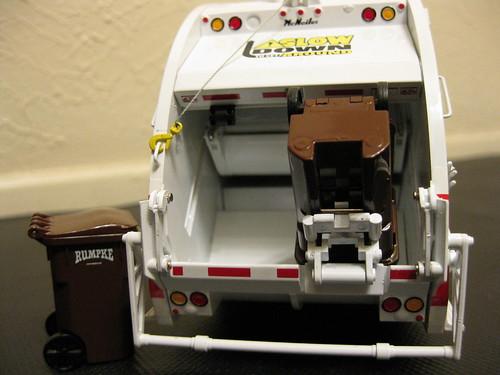 First Gear Rumpke Rear Load Garbage Truck W Bins First