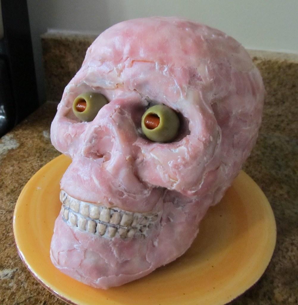 Dog Skull Cake