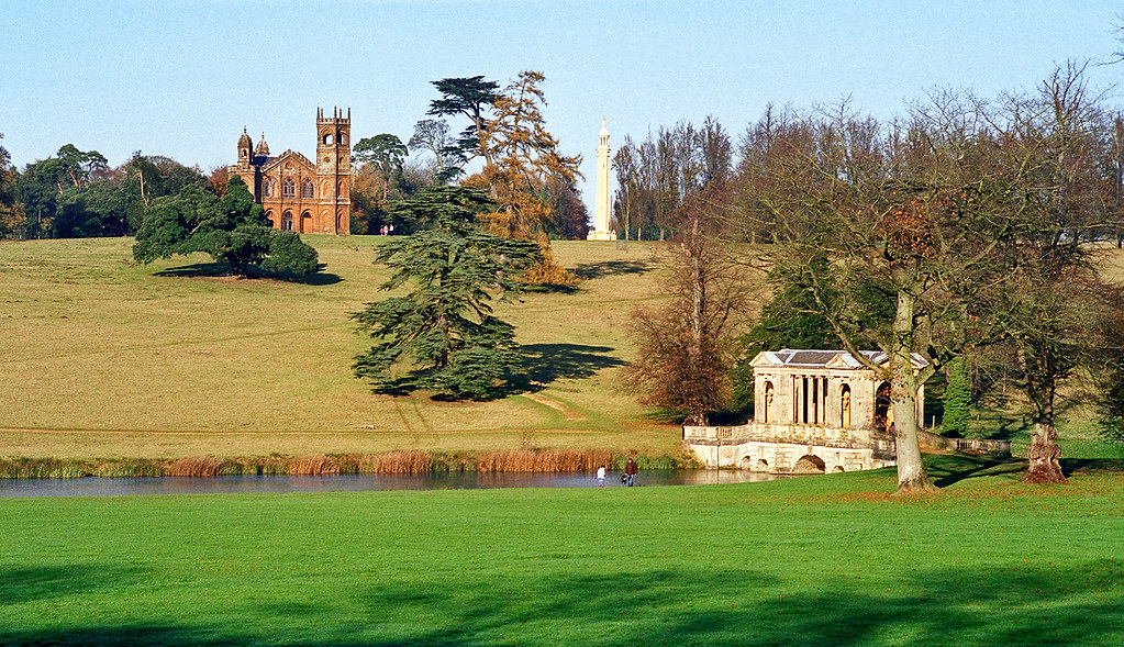 ... Landscape Gardens At Stowe, Buckinghamshire, UK | View Of Palladian  Bridge, Gothic Temple