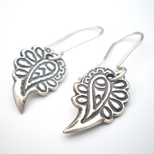 Paisley Silver Earrings | by alibalijewellery