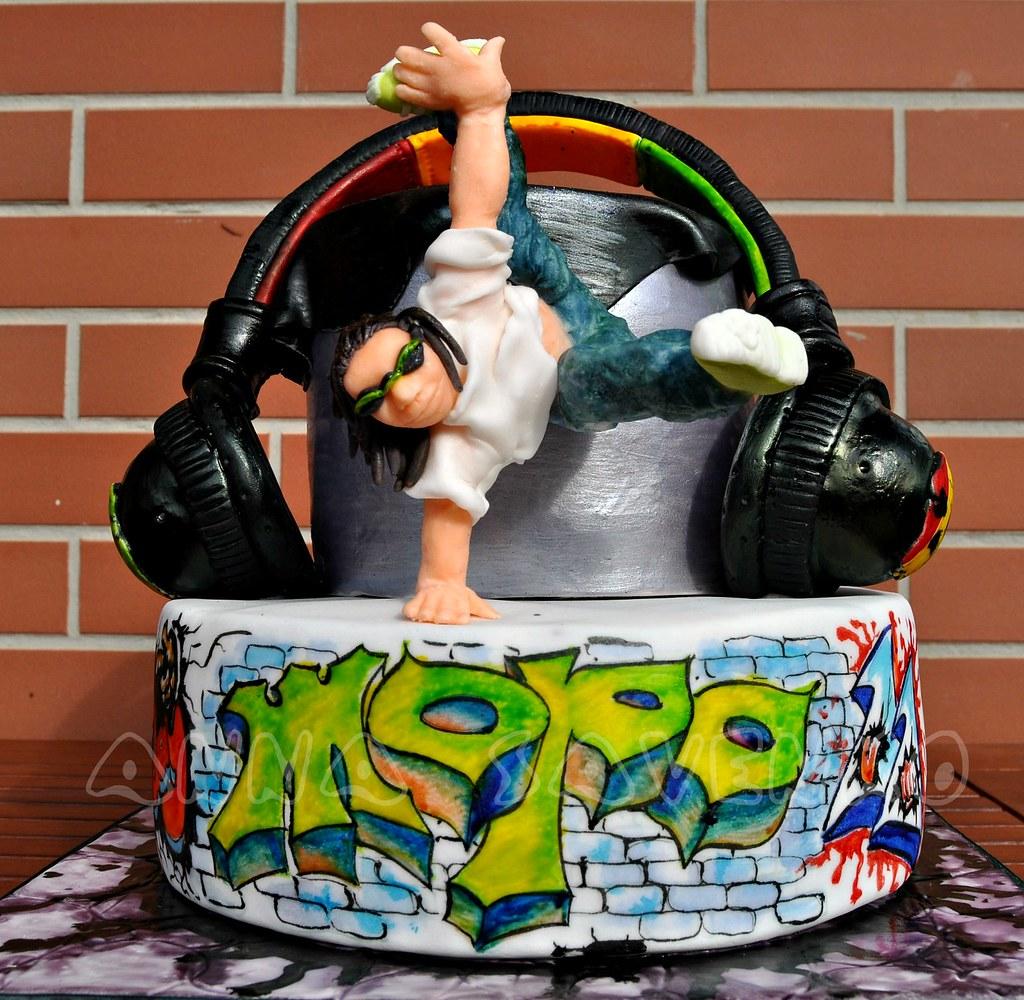 Hip Hop Dancer Birthday Cake