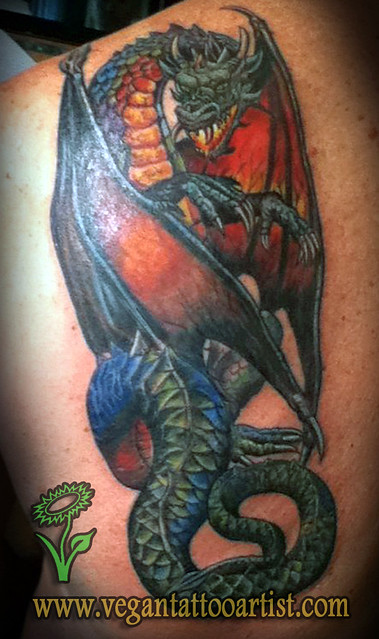 Medieval dragon tattoos
