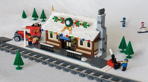 Winter Village Train Depot | by ted @ndes